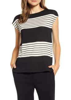 Anne Klein Stripe Knit Top