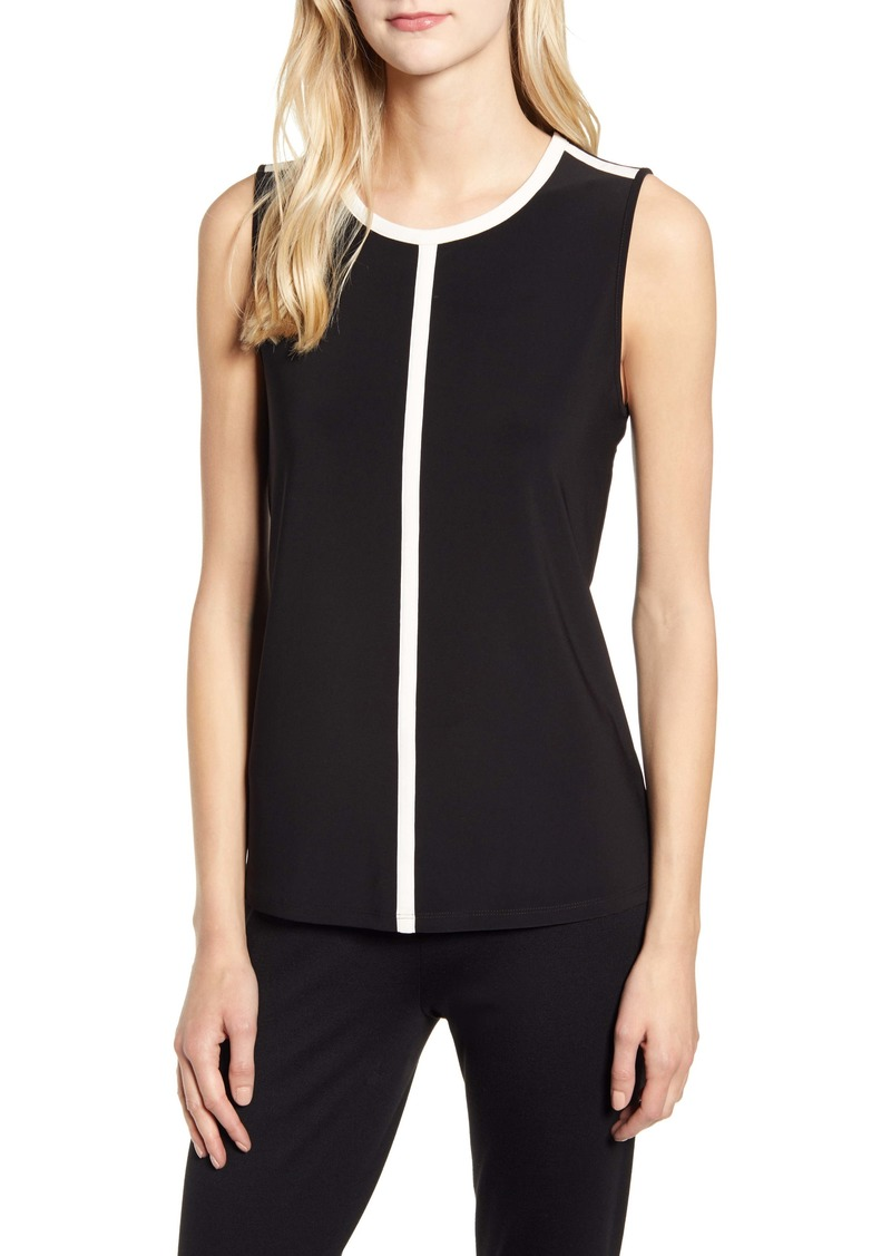 Anne Klein Stripe Outline Sleeveless Top