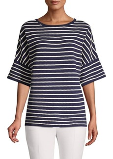 Anne Klein Striped Knit Top
