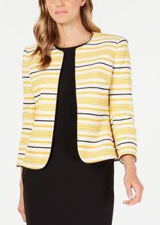 Anne Klein Striped Tweed Jacket