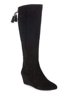 Anne Klein Suede Wedge Boots