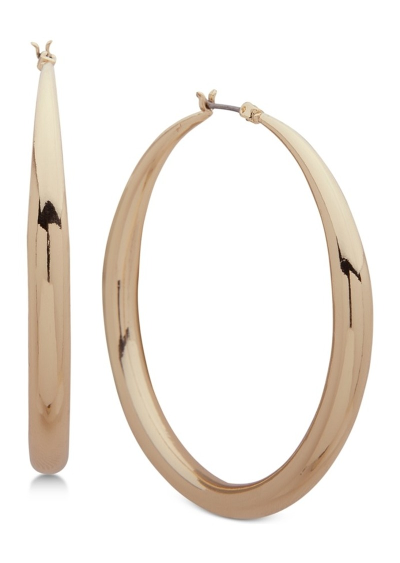 Anne Klein Tapered Medium Hoop Earrings