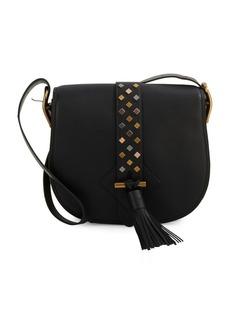 Anne Klein Collection Tasseled Leather Saddle Bag