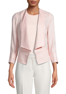 Anne Klein Textured Drape Front Jacket