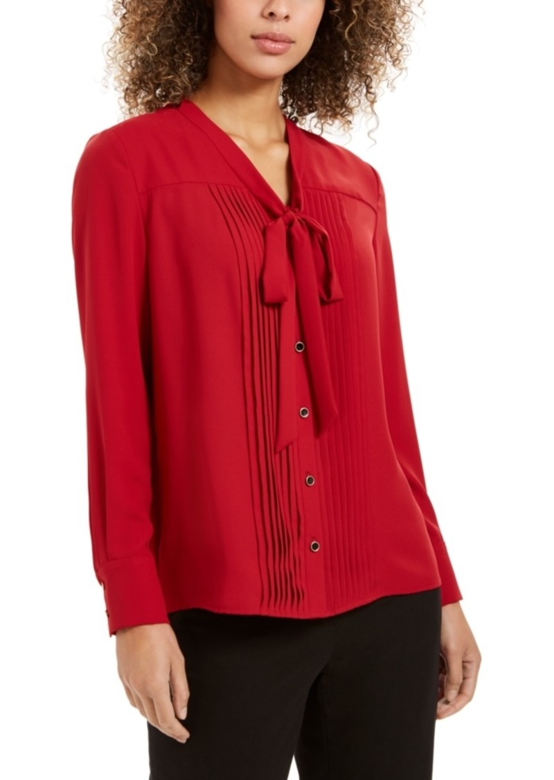 Anne Klein Tie-Front Button-Down Shirt
