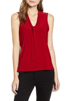 Anne Klein Tie Neck Sleeveless Blouse