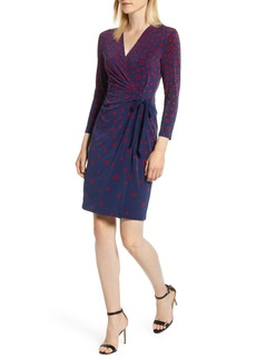 Anne Klein Tumbling Squares Faux Wrap Dress