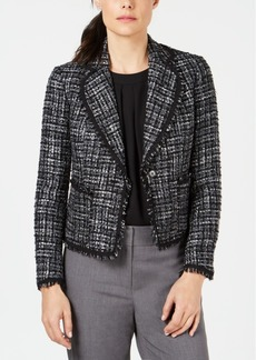 Anne Klein Tweed One-Button Blazer