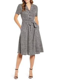 Anne Klein Tweed Shirtdress