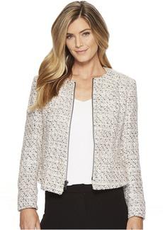 Tweed Zip Front Jacket