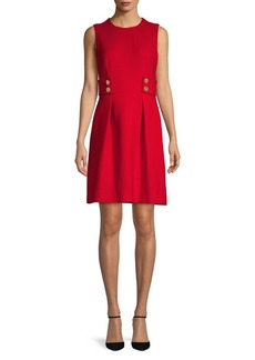Anne Klein Twill Fit & Flare Dress