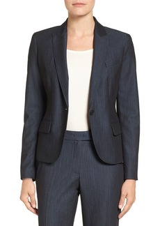 Anne Klein Twill One-Button Jacket