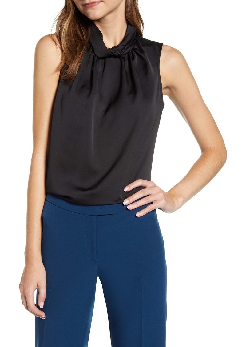 Anne Klein Twist Collar Shell
