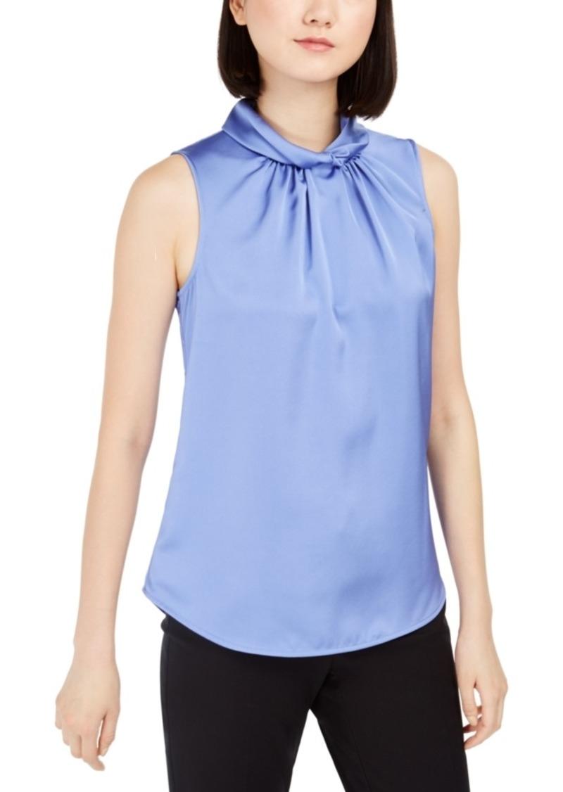 Anne Klein Twist-Collar Sleeveless Top