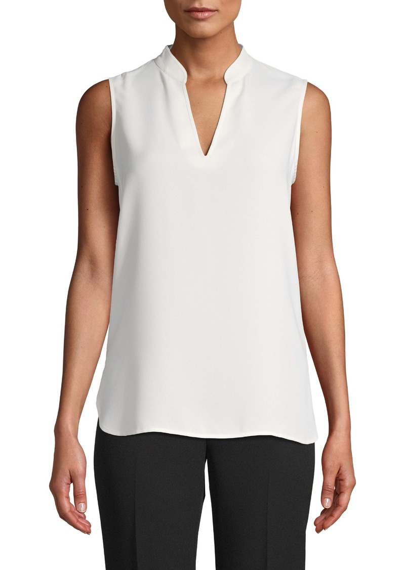 Anne Klein V-Neck Sleeveless Blouse