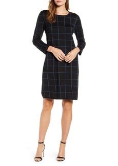 Anne Klein Windowpane Sweater Dress