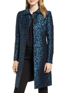Anne Klein Windy Petals Jacquard Jacket