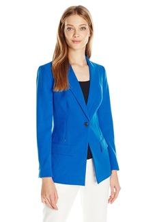 Anne Klein Women's 1 Button Long Boyfriend Jacket