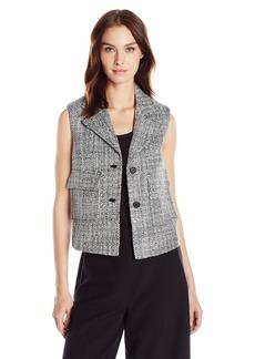 Anne Klein Women's 2 Button Tweed Vest
