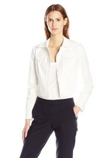 Anne Klein Women's 2 Pocket Cotton Pique Jacket