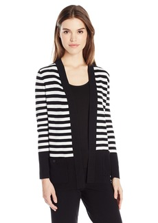 Anne Klein Women's 2 Pocket Malibu Cardigan  M
