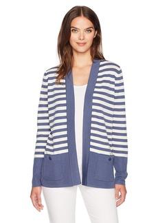Anne Klein Women's 2 Pocket Malibu Cardigan  S