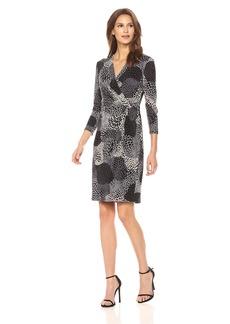 Anne Klein Women's 34 SLV Side Drape Dress  L