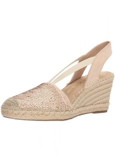 Anne Klein Women's Abbey Fabric Espadrille Wedge Sandal