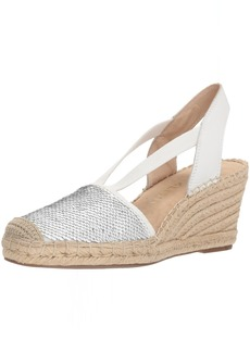 Anne Klein Women's Abbey Synthetic Espadrille Wedge Sandal