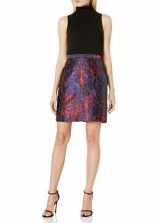 Anne Klein Women's Animal Jacquard Pencil Skirt Phoenix/Titian RED Combo