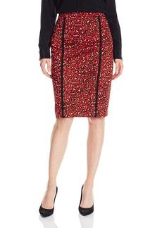 Anne Klein Women's Animal Ponte Skirt