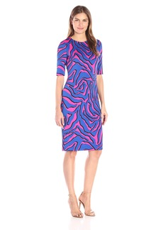 Anne Klein Women's Animal Printed Scuba Sheath Dress