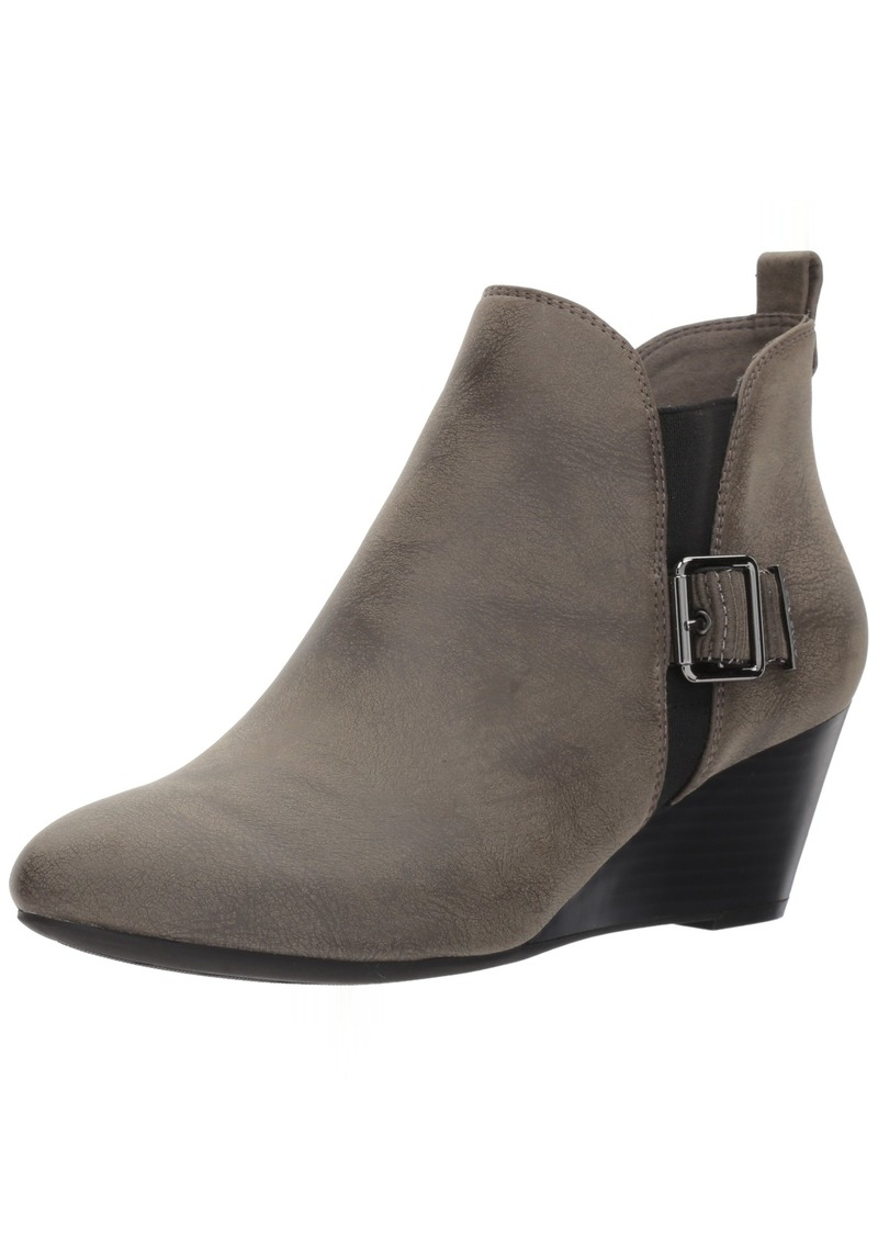 Anne Klein Women's ANNI Synthetic Ankle Boot