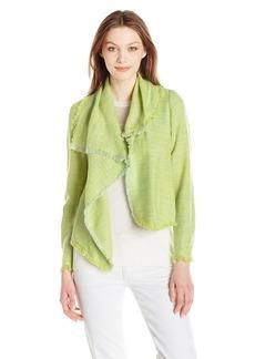 Anne Klein Women's Asymmetric Multi Tweed Jacket