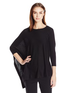 Anne Klein Women's Asymmetric Poncho Sweater  M
