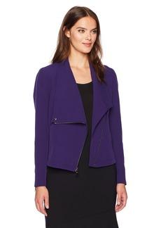 Anne Klein Women's Asymmetric Zip Jacket