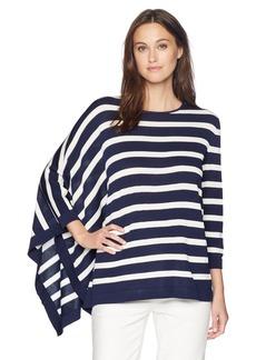 Anne Klein Women's Asymmetrical Striped Sweater  M