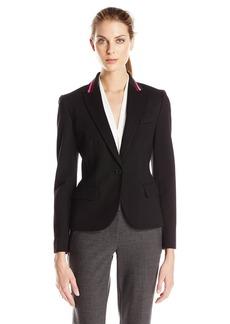 Anne Klein Women's Athletic Collar Ponte Jacket