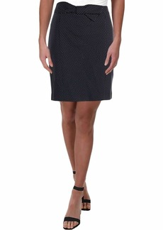 Anne Klein Women's Bow Front Pencil Skirt