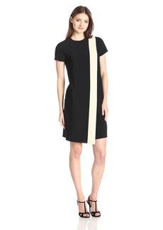 Anne Klein Women's Cap Sleeve Combo Overlap Dress