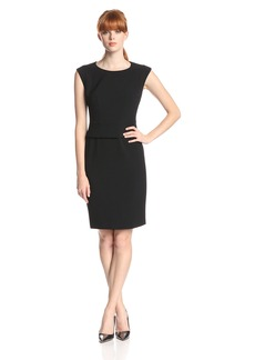 Anne Klein Women's Cap Sleeve Peplum Dress