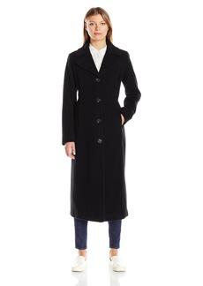 Anne Klein Women's Cashmere Blend Long Wool Coat