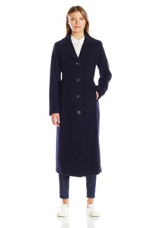 Anne Klein Women's Cashmere Blend Long Wool Coat