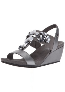 Anne Klein Women's Cassie Wedge Sandal   M US