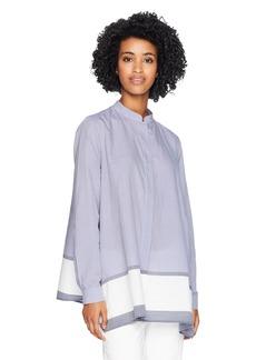 Anne Klein Women's Chambray Tunic Blouse  L
