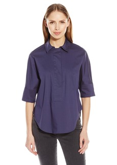 Anne Klein Women's Classic Collared Tunic Blouse