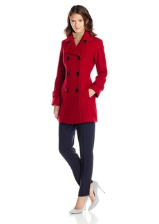 Anne Klein Women's Classic Double Breasted Wool Coat