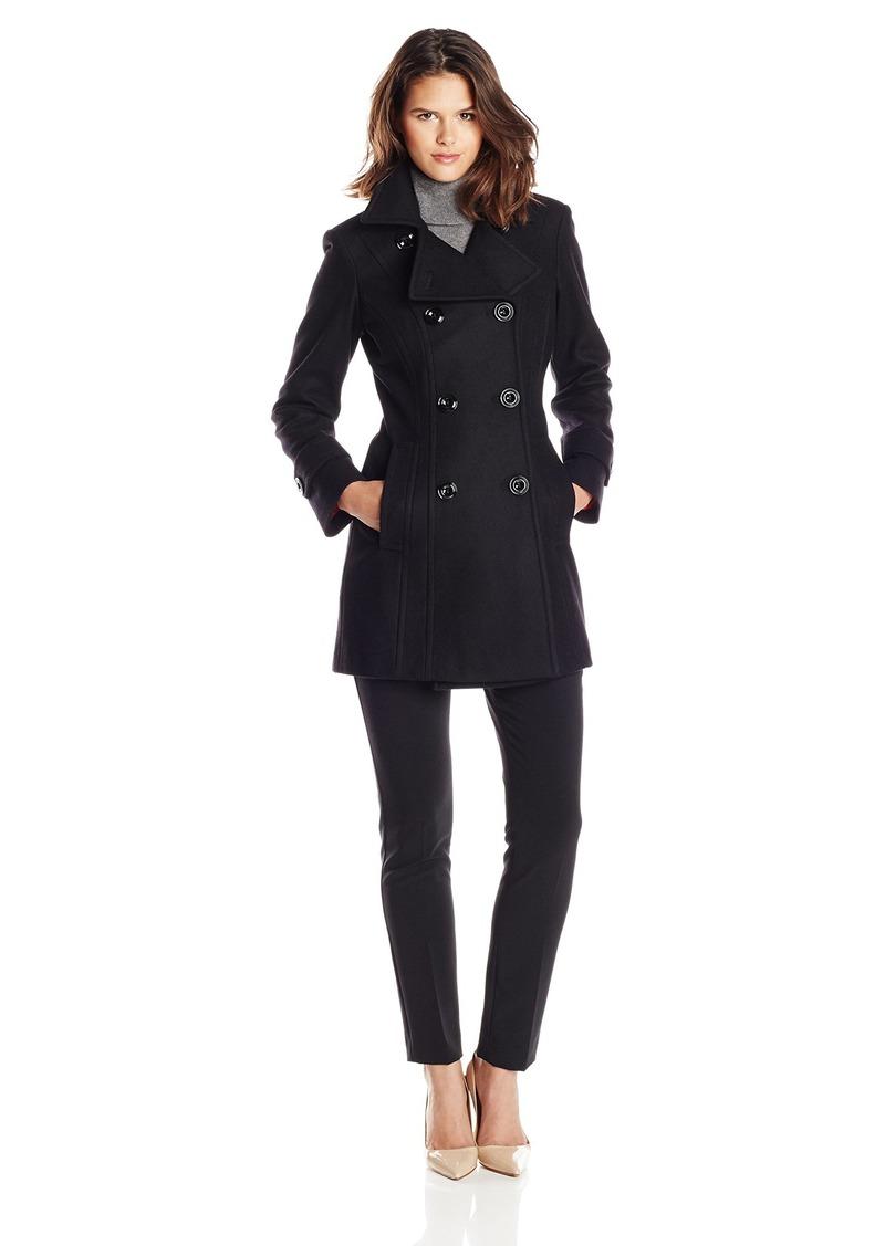 Anne Klein Women's Classic Double Breasted Wool Coat