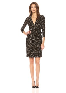 Anne Klein Women's Classic V-Neck Faux Wrap Dress  XS