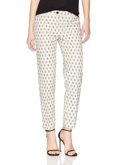 Anne Klein Women's Clipped Jacquard Slim Pant